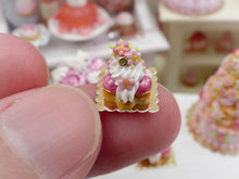 Load image into Gallery viewer, Pink Flower St Honoré - Miniature French Pastry in 12th Scale