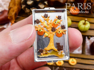 Autumn Cookie Tree on Baking Sheet - 12th Scale Miniature Food