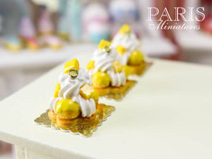 Mango St Honoré - Miniature Food French Pastry