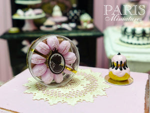 Pink Macaroons Gift Box - 'Boudoir Chic' - 12th Scale Miniature Food