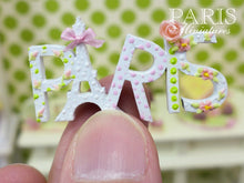 "Load image into Gallery viewer, A ""PARIS"" Decoration for Spring - Miniature Decoration in 12th Scale"