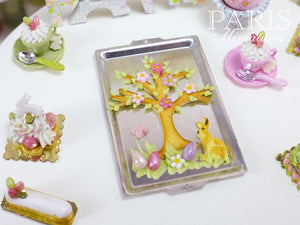 Spring Tree Cookie on Baking Sheet - Miniature Food in 12th Scale for Dollhouse