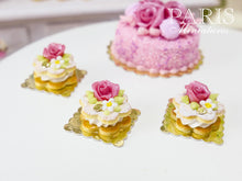 Load image into Gallery viewer, Pink Rose Cream-Filled Flower-Shaped French Sablé Cookie - 12th Scale Miniature Food
