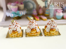 Load image into Gallery viewer, Caramel St Honoré - French Pastries - 12th Scale Miniature Food