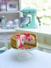 Load image into Gallery viewer, Strawberry Cheesecake - 12th Scale Miniature Food