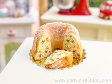 Load image into Gallery viewer, Cut Fruit Kouglof - 12th Scale Miniature Food