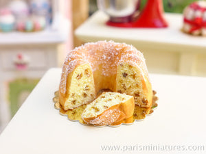 Cut Fruit Kouglof - 12th Scale Miniature Food