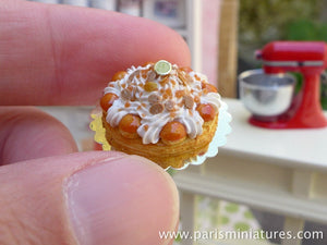 St Honoré (Classic Caramel French Pastry) - 12th Scale Miniature Food
