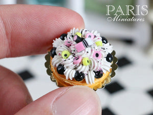 Liquorice Allsorts St Honoré (French Pastry, English Candy) - Miniature Food