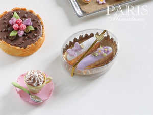 Patissier Gift Box of Eclairs - Purple and White - Miniature Food