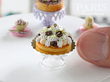Load image into Gallery viewer, Chocolate and Vanilla St Honoré (French Pastry) - 12th Scale Miniature Food