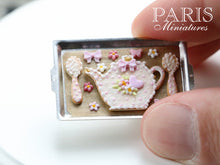 Load image into Gallery viewer, Teatime Cookies on Baking Sheet (Teapot, Spoons) - Miniature Food