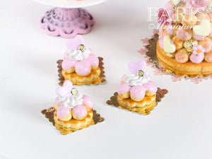 Pink Choux Flower Pastry - 12th Scale Miniature Food