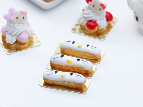Hello Kitty French Eclair - Miniature Food French Pastry