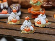 Load image into Gallery viewer, Pumpkin St Honoré for Autumn/Fall - 12th Scale French Miniature Food
