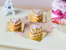 Load image into Gallery viewer, French Buttery Shortbread Millefeuille – Valentine's Pastry - Pink Version - Miniature Food