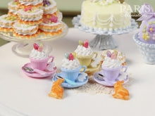 Load image into Gallery viewer, Cup of Easter Cappuccino with Bunny Cookie (Choice of Baby Blue or Lilac)