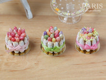 Load image into Gallery viewer, Easter Charlotte (Pink Eggs and Ribbon) - Miniature Food in 12th Scale for Dollhouse