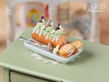Load image into Gallery viewer, Easter Swiss Roll - Miniature Food in 12th Scale