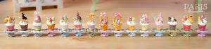 "Easter ""Showstopper Cupcake (E) - Green Candy Rabbit, Carrot, Egg"