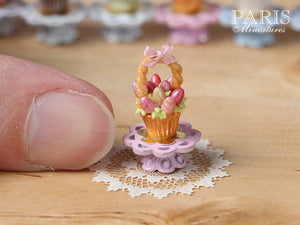 "Easter ""Showstopper Cupcake (H) - Basket of Pink Eggs"