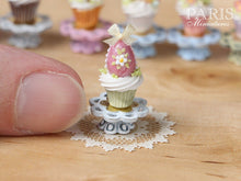"Load image into Gallery viewer, Easter ""Showstopper Cupcake (C) - Pink Egg - Miniature Food in 12th Scale"