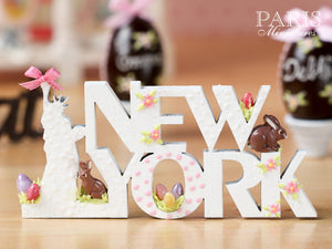 "A ""NEW YORK"" Decoration/Sign for Easter - Miniature Decoration in 12th Scale"
