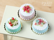 Load image into Gallery viewer, Pastel Cake - Pink, Decorated with Red Fruit & Berlingot Candy - Miniature Food