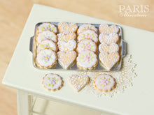Load image into Gallery viewer, Iced Butter Cookies on Metal Baking Sheet - Miniature Food in 12th Scale for Dollhouse