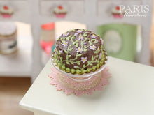 Load image into Gallery viewer, Chocolate Floral Summer Cake - Miniature Food in 12th Scale for Dollhouse