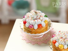 "Load image into Gallery viewer, Rainbow St Honoré ""Arc en ciel"" - Miniature Food in 12th Scale"