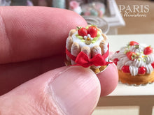 Load image into Gallery viewer, Strawberry Charlotte - French Pastry - Miniature Food in 12th Scale for Dollhouse