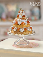 Load image into Gallery viewer, Triple Tiered St Honoré Pastry Centerpiece - Miniature Food in 12th Scale