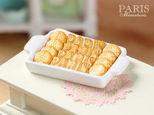 Load image into Gallery viewer, PARIS-Themed Butter Cookies on Tray - Three Sorts - Miniature Food in 12th Scale for Dollhouse