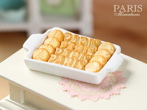 PARIS-Themed Butter Cookies on Tray - Three Sorts - Miniature Food in 12th Scale for Dollhouse