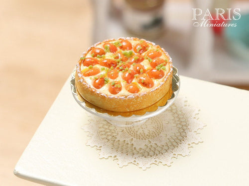 French Apricot Tart (Tarte aux abricots) - Miniature Food