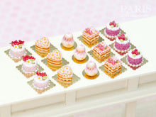 Load image into Gallery viewer, Raspberry Individual Pastry - Génoise Cake - Miniature Food in 12th Scale for Dollhouse