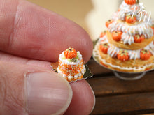 Load image into Gallery viewer, Pumpkin Genoise Pastry for Autumn/Fall/Halloween - 12th Scale French Miniature Food