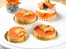 Load image into Gallery viewer, Open Pumpkin Pie (Tart) in the Shape of a Pumpkin - Miniature Food in 12th Scale for Dollhouse