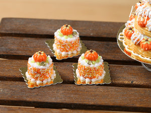 Pumpkin Genoise Pastry for Autumn/Fall/Halloween - 12th Scale French Miniature Food