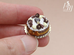 French Chocolate Cake - Miniature Food in 12th Scale for Dollhouse
