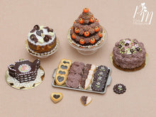 Load image into Gallery viewer, Chocolate Cookies and Meringues on Metal Tray - 4 Varieties, 3 Loose - Miniature Food