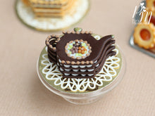 Load image into Gallery viewer, Teapot Shaped Millefeuille Chocolate Cake - Miniature Food