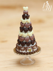 Chocolate Hearts Tower / Pièce Montée - Miniature Food