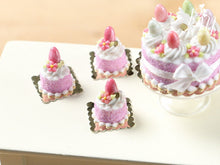 Load image into Gallery viewer, Easter Individual Pastry (Genoise) Decorated with Candy Egg and Blossom - Pink