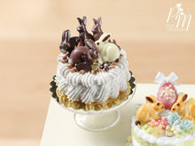 Load image into Gallery viewer, Easter Cream Cake Decorated with Chocolate Rabbits