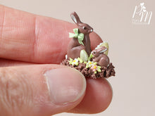 Load image into Gallery viewer, Chocolate Easter Rabbit Family Display (D) - Miniature Food
