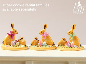 Easter Cookie Rabbit Family Display (B) - Miniature Food in 12th Scale
