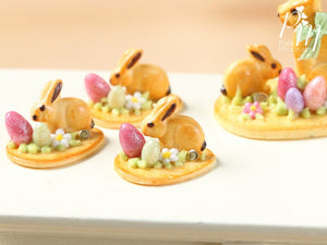 Easter Cookie Baby Bunny Rabbit, Eggs and Blossom - Individual Pastry