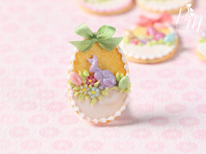 "Easter Egg Shortbread Sablé ""Basket"" Cookie (F) - Miniature Food in 12th Scale for Dollhouse"